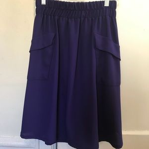 Dresses & Skirts - Rich purple pocket skirt
